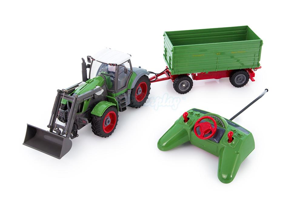 playtastic funk ferngesteuerter kp0090t traktor mit steuerbarem anh nger neu. Black Bedroom Furniture Sets. Home Design Ideas