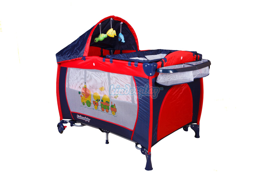 kinderplay lit de voyage pliant b b matelas moustiquaire parapluie kp0184 ebay. Black Bedroom Furniture Sets. Home Design Ideas
