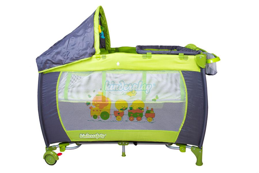 kinderplay lit de voyage pliant b b matelas moustiquaire parapluie kp0185 ebay. Black Bedroom Furniture Sets. Home Design Ideas