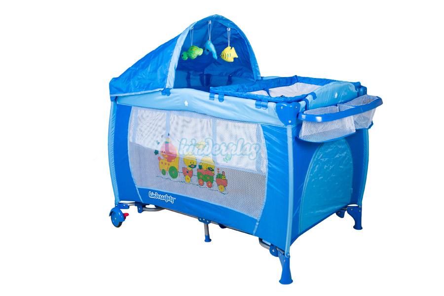 kinderplay lit de voyage pliant b b matelas moustiquaire parapluie kp0186 ebay. Black Bedroom Furniture Sets. Home Design Ideas