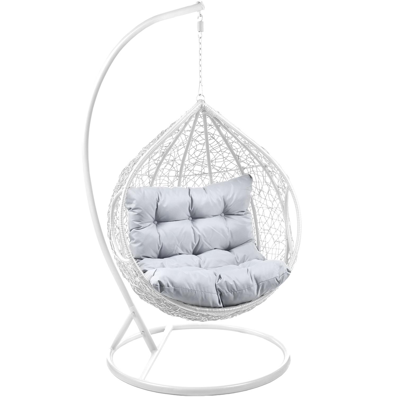 h ngesessel mit gestell polyrattan ca0035 schaukel h ngekorb rattan neu ebay. Black Bedroom Furniture Sets. Home Design Ideas