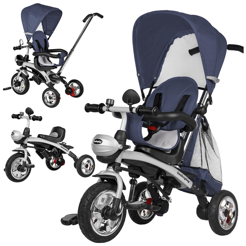 Dreirad 6 in 1 Kinderwagen Fahrrad Kinder 8-6 Jahre Lila Schiebstange Joggy