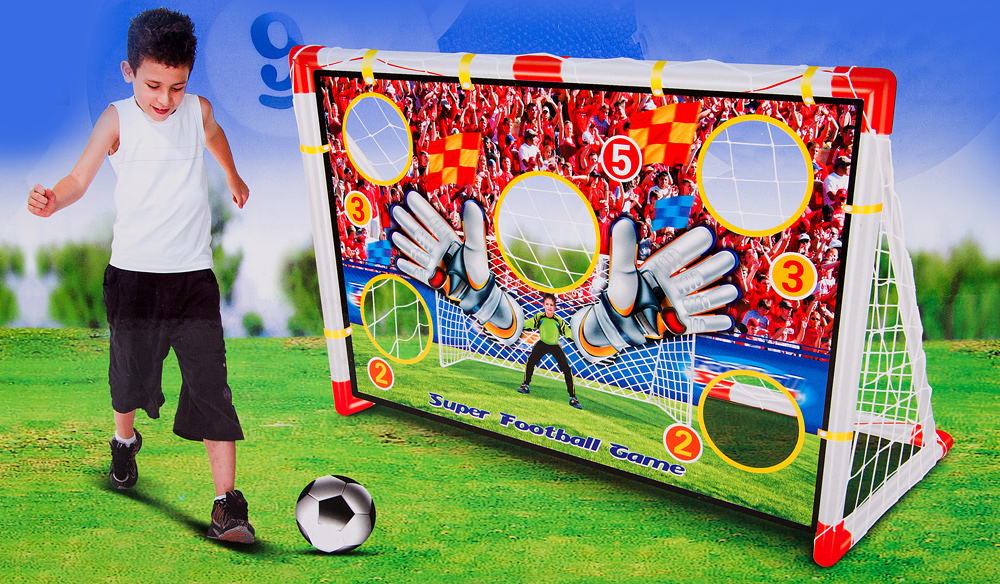 fussballtor mit torwand kp2113 gartenspielzeug fu ball. Black Bedroom Furniture Sets. Home Design Ideas
