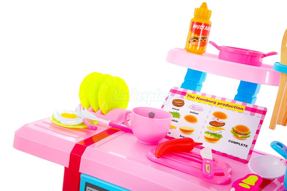 kinderk che spielk che spielzeug kinder k che mit zubeh r rosa neu kp8516 ebay. Black Bedroom Furniture Sets. Home Design Ideas