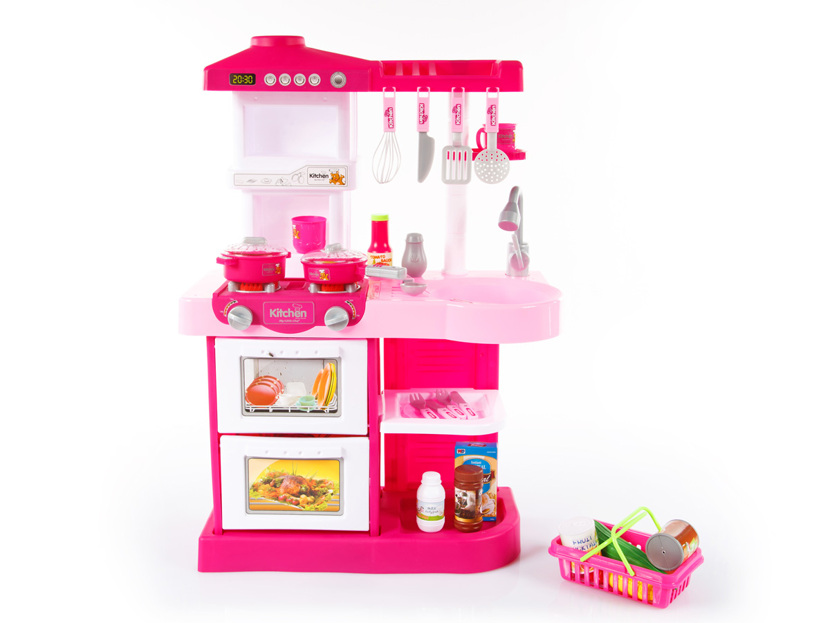 Toy Kitchen Role Play Pretend Cooking Interactive Children Kids Girl ...